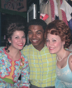 Hairspray, on as Brenda, with Katie Donohue as Lou Ann and Christian White as Seaweed