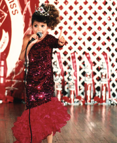 Singing 'I'm the Greatest Star', childhood pageant days