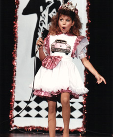 Singing 'Pink Cadillac', childhood pageant days