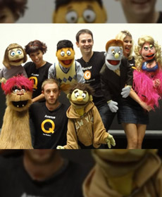 Fun with the Avenue Q cast