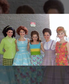 Fun with the Hairspray cast, me as 'Shelley'