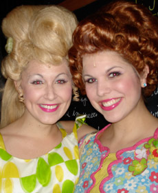 With my 'Hairspray' roommate and lovely friend, Katie Donohue