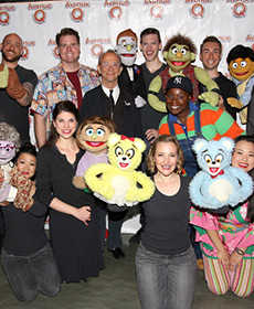 Joel Grey visits AVENUE Q for Pride Weekend