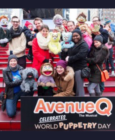 AVENUE Q hosts World Puppetry Day 2016 in Times Square