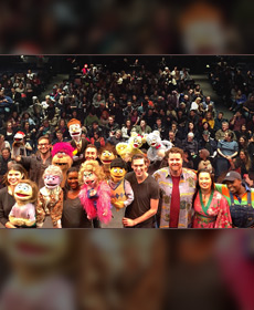 World Puppetry Day 2016, AVENUE Q cast and audience