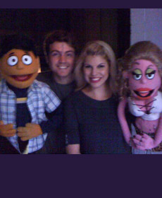 Avenue Q, on as Lucy T. Slut, with Brent DiRoma and Princeton
