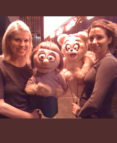 'Avenue Q', on for Kate Monster, with Ashley Bucknam and 'Girl Bear'
