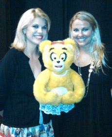 backstage at Avenue Q with Girl Bear and my cousin and best friend, Allison